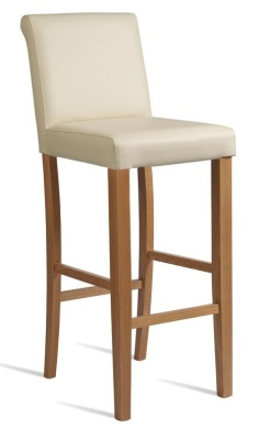 Turin High Stool Cream Leather