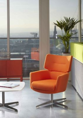 Waiting Room With Kala Designer Armchair In Orange