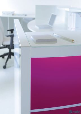 Valde Reception Desk Fuschia Front Panel Detail