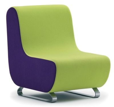 Parade Innovative Modular Reception Seat In Contrasting Green And Purple Fabric