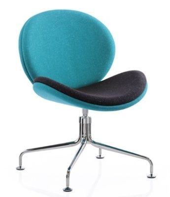 Giggler Break Out Tub Chair In Blue And Black Fabric