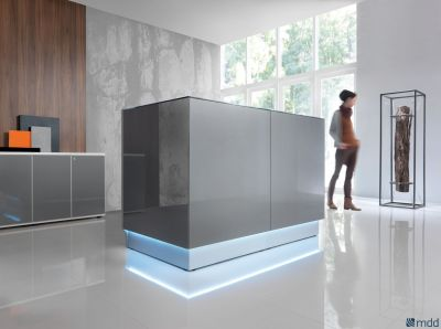 Lx Compact Glass Reception Desk