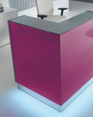 LX Recption Desk Fuschia Corner
