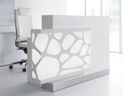 Crazy Stone Reception Desk White Light