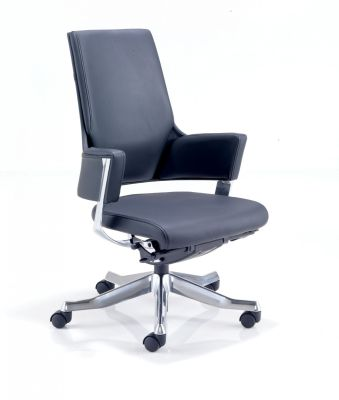 Visage Black Leather Execfutive Task Chair
