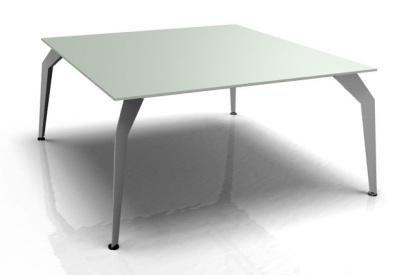 Acti Square Frosted Glass Spider Leg Desk