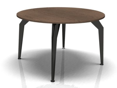 Circular Meeting Table Legs Walnut