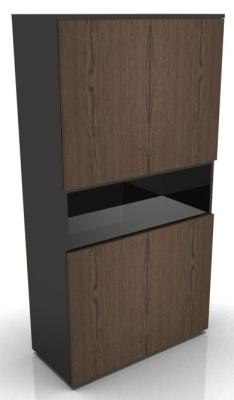 Tall Cupboard Four Door With Open Shelf