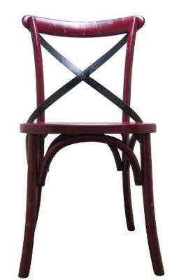 Trieste Wooden Chair Nburgundy Distressed Finish