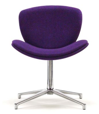 Spirit Lite Swivel Chair In Dark Purple Fabric, Aluminium Star Base
