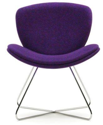 Spirit Lite Designer Wire Frame Chair In Purple Upholstery