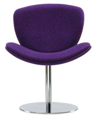 Spirit Lite Purple Designer Chair With Pedestal Base