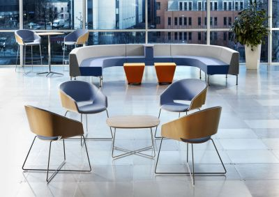 Contemporary And Modern Dining Hall With Halo Designer Seating