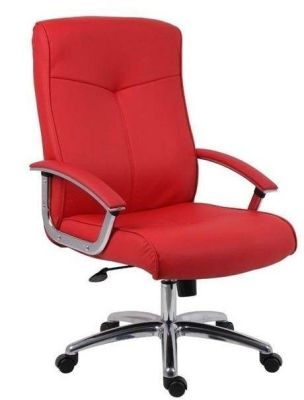 El Diablo Red Leather Executive Reclining Office Chair