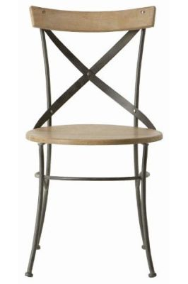 Crossback Industrial Side Chair
