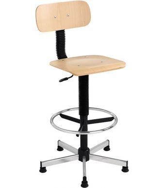 Studio Beech Labatory Stool With Foot Rest