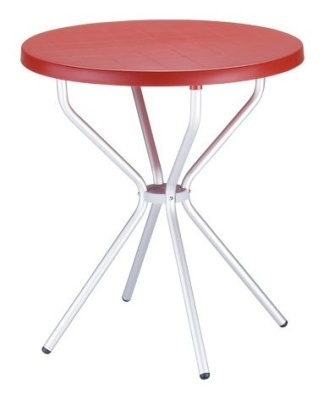 Elfo Outdoor Plastic Table Red
