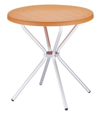 Elfo Outdoor Plasic Table Orange Top