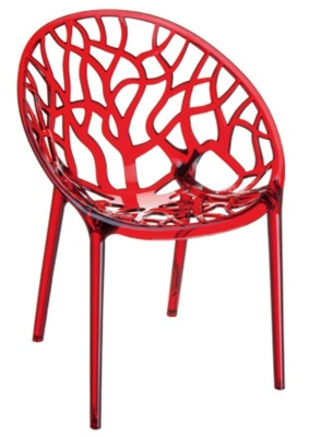 Crystal Chair Red