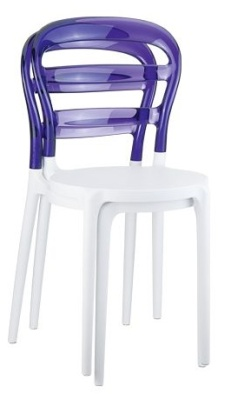 Miss Bibi White Seat And Violet Backrest