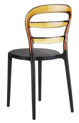 Miss Bibi Bistro Chair Amber And Black Seat