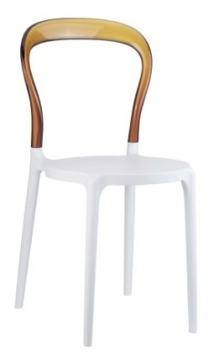 Mr Bobo Chair White Seat And Amber Back
