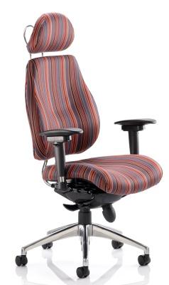 Chiro Plus High Back With Headrest In Custom Fabrics