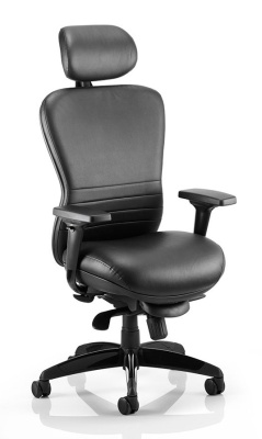 Shadow High Back Leather Chair Front Angle