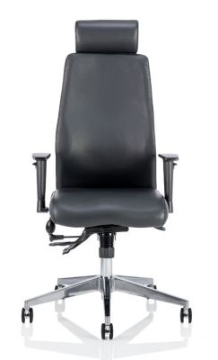 Aztec Executive Leather Task Chair With Headrest