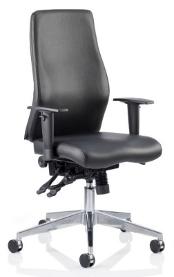 Aztec Black Leather Executive Task Chair