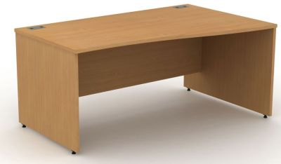 Avalon Right Hand Wave Desk With Side Panels