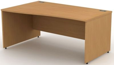 Avalon Left Hand Wave Desk With Side Panels