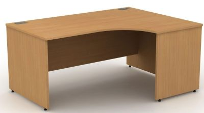 Avalon Right Hand Corner Desk With Side Panels