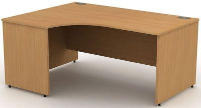 Avalon Left Hand Corner Desk With Side Panels