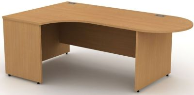 Avalon Left Hand Interactive Corner Desk With Side Panels