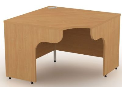 Avalon Free Standing Corner Desk With Side Panels
