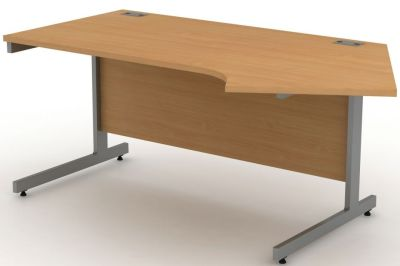 Avalon Right Hand Angular Corner Workstation Desk