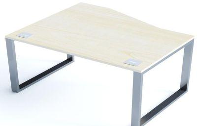 Avalon Plus Wave Bench Desk With An Sliding Ash Top