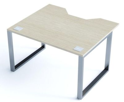 Avalon Double Wave Bench Desk With A Light Oak Top