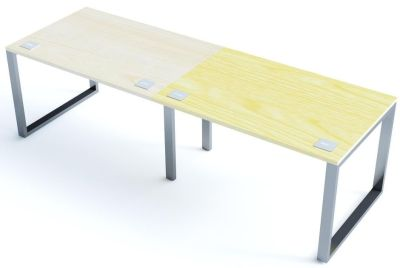 Avalon Plus Two Person Side By Side Bench Desk With Maple And Ash Tops