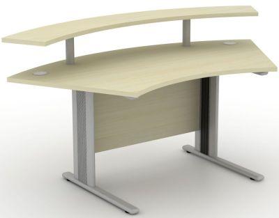 Avalon Plus Curved Reception Desk With Raised Shelf