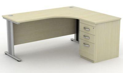 Avalon Plus Right Hand Corner Combination Desk And Pedestal