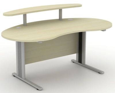 Avalon Plus Kidney Shaped Desk With A Raised Shelf