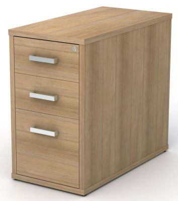 Avalon Plus 800mm Deep Desk Height Pedestal Drawers In Santiago Cherry