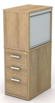 Avalon Plus 600mm Deep Desk Pedestal And Tambour Top Box