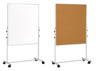 Bio Mobile Whiteboard And Corkboard Combination
