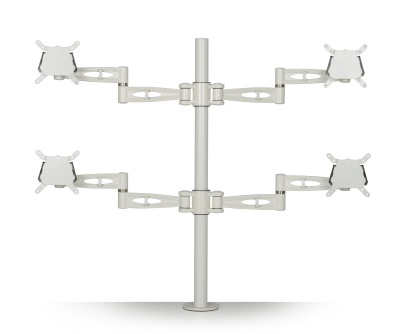 Matal Quad Monitor Arm For Four Monitors Front View