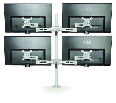 Matal Quad Monitor Arm Rear View