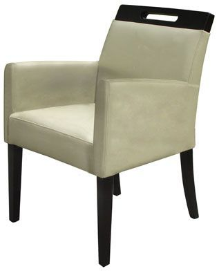 Rumwell Leather Carver Dining Chair