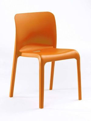 POP Orange Moulded Heavy Duty Chair